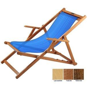 houten ligstoel blauw structuur grof