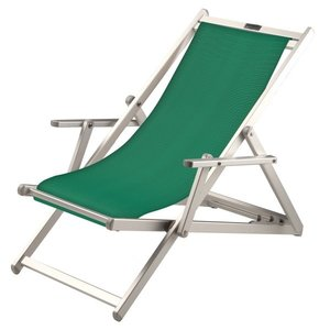 aluminium ligstoel groen