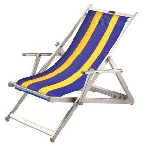 aluminium ligstoel blauw-geel