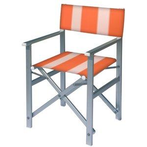 aluminium regisseursstoel oranje wit