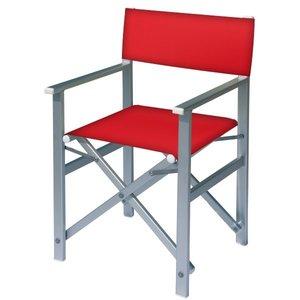aluminium regisseursstoel rood