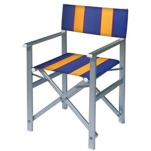 aluminium regisseursstoel blauw amber
