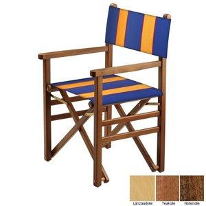 beukenhouten regisseursstoel blauw amber