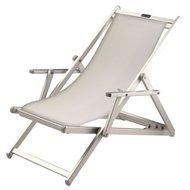 aluminium ligstoel wit